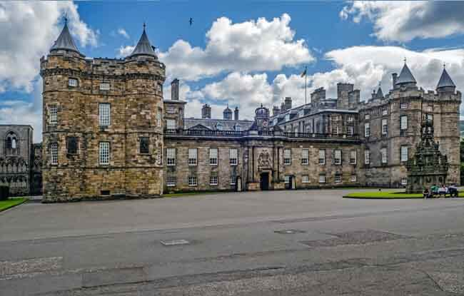 Vista del Palacio de Holyrood