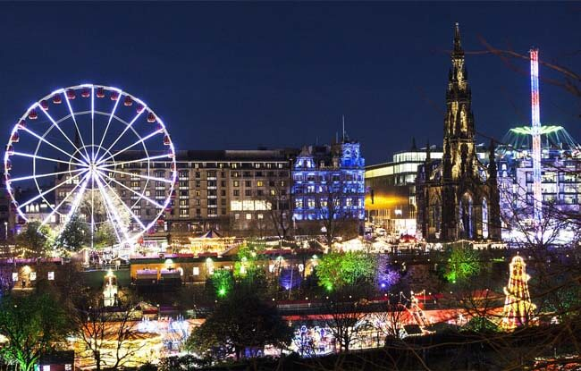 New Year Eve in the New Town of Edinburgh
