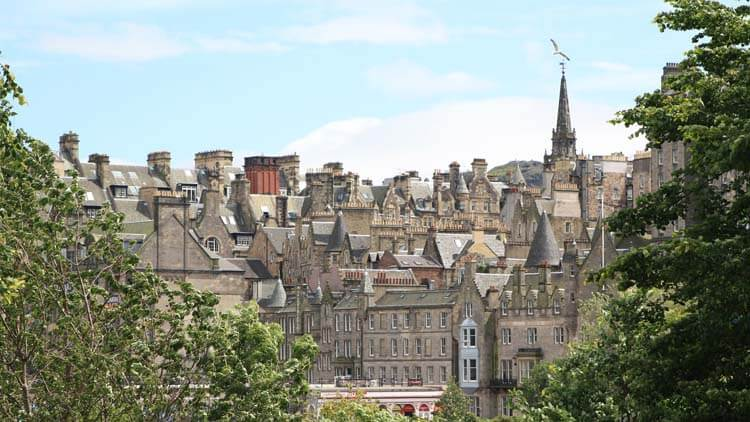 Old Town from Princes Street Gardens