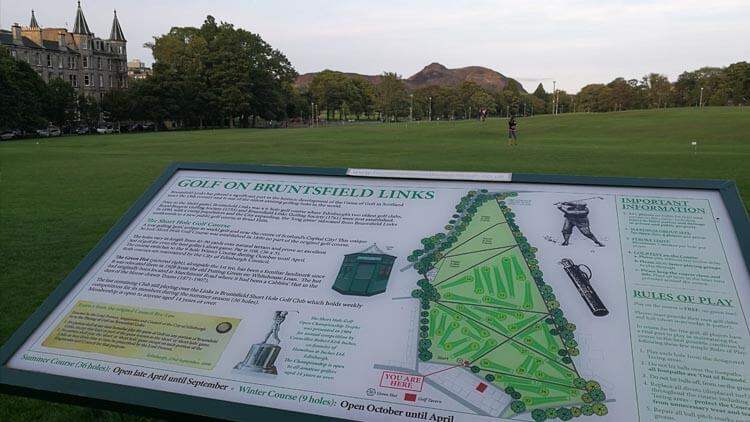 Golf course in Bruntsfield