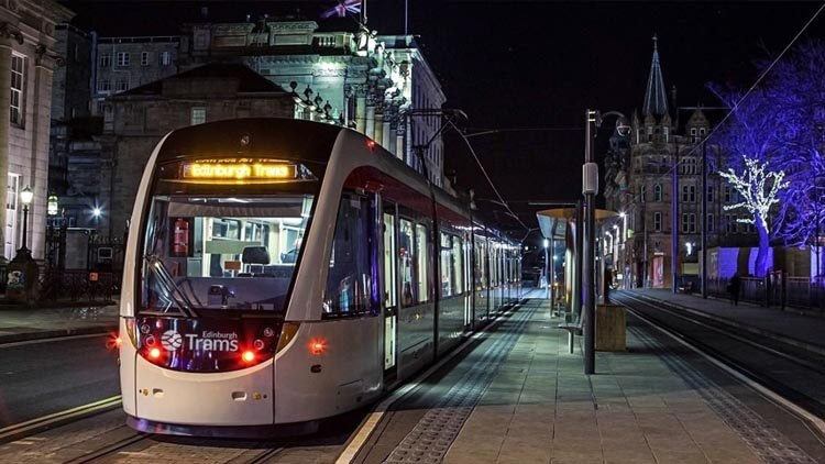 Tram in Edinburgh